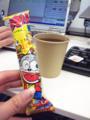 うまい棒と紅茶でポカる作戦(´∀`)ノ #ponpon