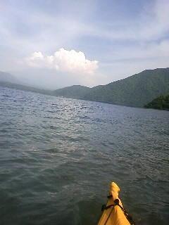 本栖湖上なう