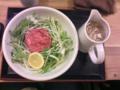 松坂牛ラーメンなう。なかなか高額。