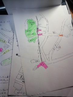 実はいつも目的地のGoogle map検索して、こんな風に手書きで地図書いて