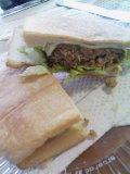 昨日のハンバーグで ハンバーガー♪ @foodmemo