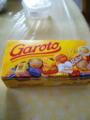 ブラジルのチョコ貰いました、派手で可愛い。ちょっと甘いけどなかな