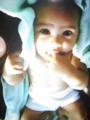 マイベイベーちゃん。タイ&エゲレス。この子のヨダレをゲロも初めて