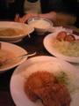 新宿アカシヤで夕食なう。