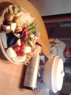 今日のご飯は好物の蒸し野菜