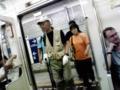電車にセンゴク先生が乗ってきました