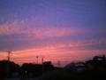 凄い色です。明日の天気はどうかな…。