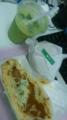 夕食として、モスのナン・チョリソカレーとサウザン野菜バーガー&ア