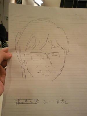 そういやマディさんが描いてくれたてぃーま近影が出てきたのでアップ