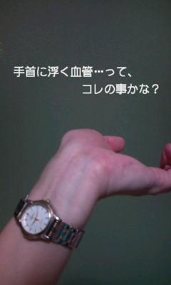 @ONOBE_03 腕を反った時に浮き出る血管…とはこの事かえ? 私は反らんで