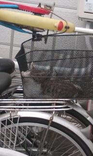 籠で寝るネコたす。