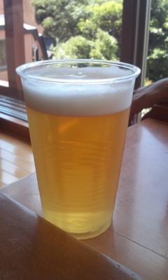 からの、ビールは最高!