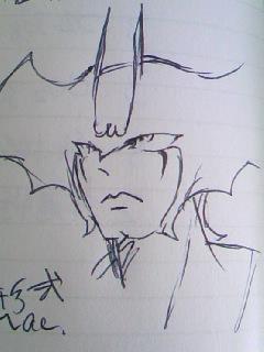 うろおぼ絵で初描き。デビルマ〜ン