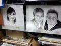 さまぁ〜ずと大江アナの似顔絵。モヤさまででてきたやつか。