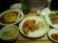 @tsunkuboy 今夜は、 @osaka_ohsho にて天津飯と唐揚げと餃子でした