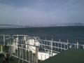明石海峡大橋と対岸の風景。淡路島一周はスキップしたとは言え、西宮