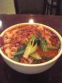 本日の摂取熱量も1000kcal。中国料理西安で麻辣刀削麺を 食ったが、山