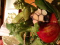 野菜バーおかわり わたくし作。ソルトリーフ初めて食べたー!何だこ