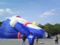 等々力緑地なう。ドラえもんの気球。バルえもんらしい。