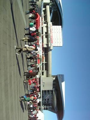 埼玉スタジアム。いや、大分前に着いてますが。キックオフまで40分弱