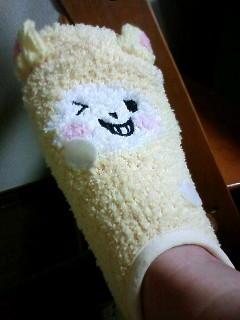 友人からの誕プレの靴下(人´∀`)俺にはかわいすぎる・・・