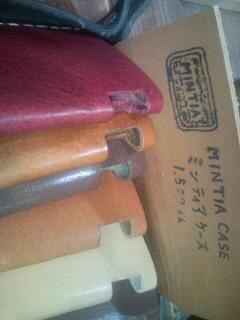Leather Base@トミトンなう。ミンティアのケースだって。(^w^)