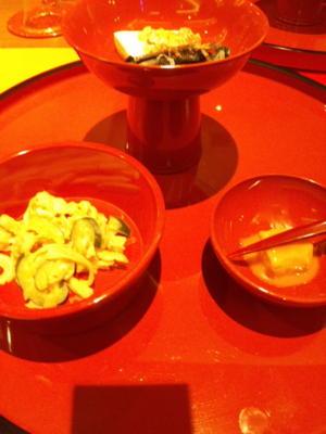 ミミガーの和え物。豆腐よう。落花生の豆腐。