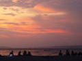 森戸海岸の夕焼け、きれいだったなー。