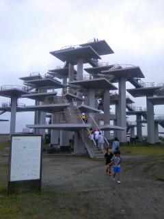 千葉県富津公園なう!登れるようになったんだね。