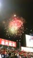 神宮球場で今年最後という花火が上がりました