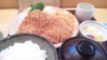 久々に来た梅林の銀カツ定食。おいしゅうございました。