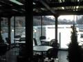 飯田橋カナルカフェからの夕景。ETICのCOP7期OBミーティングは静かに盛