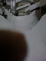 雪のかべ。