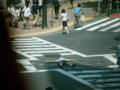 昼11時に渋谷スクランブル交差点(西武前)で睡眠。