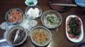 晩ごはんできたー。豆腐と鰯は持ち越し。Dinner's ready! Tofu & sardi nes are le