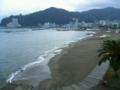 熱海市サンビーチ 夏の終わりの海です。人は少ない。