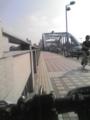 [自転車通勤] 今朝の丸子橋 今朝の丸子橋は、晴れ・気温26℃・無風。台風一過とは