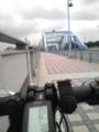 [自転車通勤] 今朝の丸子橋は、 曇 気温25℃ やや向かい風 涼しくて走りやすい。