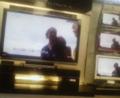 液晶テレビ アクオス65インチの前で一休み。近頃若い女性の間ではスタ