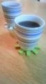 食後のコーヒーと紅茶 六曜社のグアテマラ カップはイッタラの オ