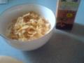 コーンフレーク、豆乳