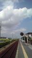五泉市市営野球場、最寄り駅の北五泉駅。野球場がある雰囲気ではない