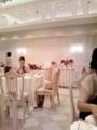 披露宴会場!ピンクのばらがすっごくきれい!