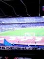 新横スタジアムなう。大きいスタジアム凄いね。