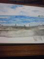 色塗り中。鎌倉高校前の海〜。今日中に色塗り終わらなかった…あと10