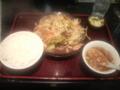いつものところで野菜炒め定食