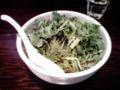 昼飯:刀削麺。