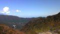 見にくいけど、あの山の向こうは新宿。XYZ…
