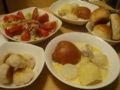 晩御飯!ブルターニュ風クリームシチューとポンデケージョとサラダと
