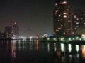 佃大橋なう。橋のライトアップは夜中は消えるのね (twitter from DSC-G3) #DS